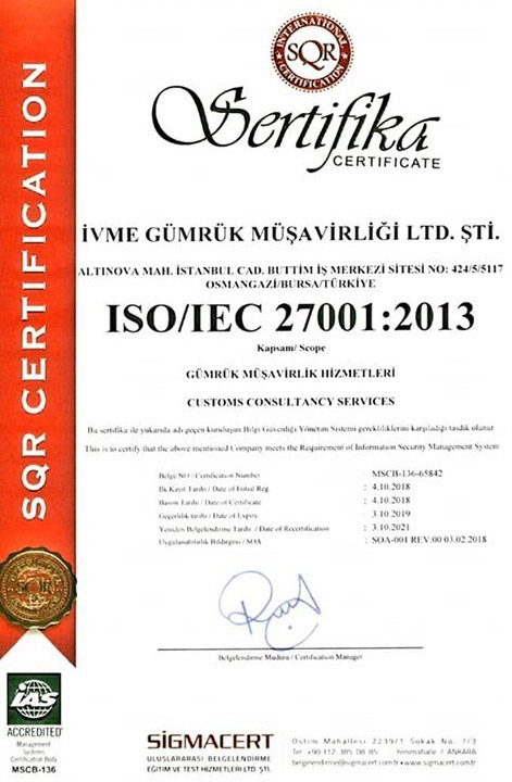 ivme gümrük sertifika 2